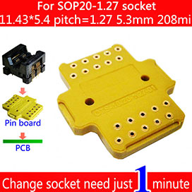 SOP20-1.27 PIN board and receptacle