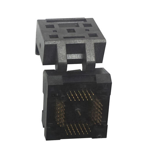 QFN12 MLF12 Burn in Socket IC Test Socket Pitch 0.5mm Chip Size 3*3 Flash Adapter Clamshell Programming Socket