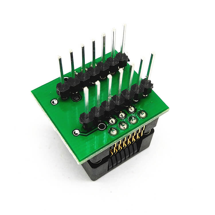SOP14(16)-1.27 SOP14 SOIC14SO14 To DIP14 Programming Socket Pitch 1.27mm IC Body Width 3.9mm 150mil Test Socket Adapter Programmer