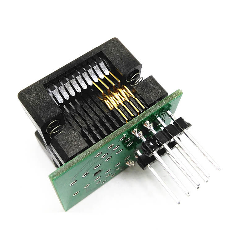 SOP8(20)-1.27 SOP8 SOIC8 SO8 Programming Socket Pin Pitch 1.27mm IC Body Width 5.4mm 209mil Test Socket Adapter Programmer