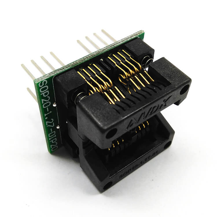 SOP8x2(20)-1.27 Double SOP8 SOIC8 SO8 Programming Socket Pin Pitch 1.27mm IC Body Width 5.4mm 209mil Flash Test Socket Adapter