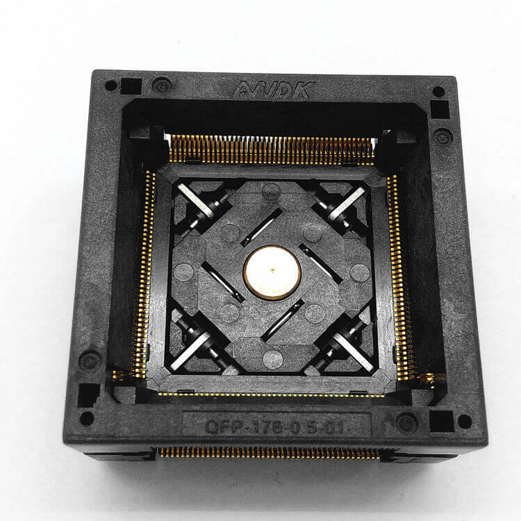 QFP176 TQFP176 LQFP176 Burn in Socket Pitch 0.5mm IC Body Size 24x24mm OTQ-176-0.5-06 Test Socket Adapter