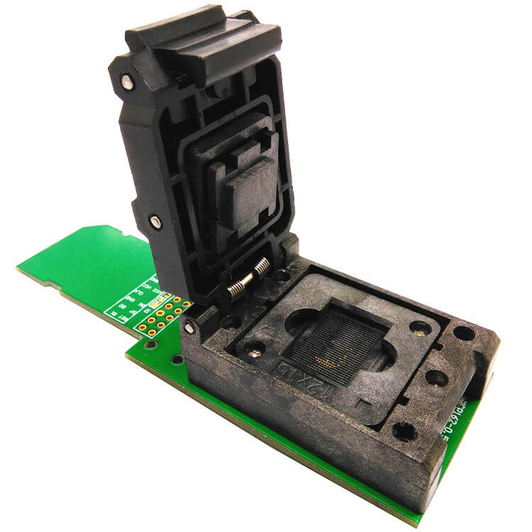 eMCP162/186 reader clamshell structure test socket with SD interface, for BGA162 /186 data recovery size 12x16mm pitch 0.5mm