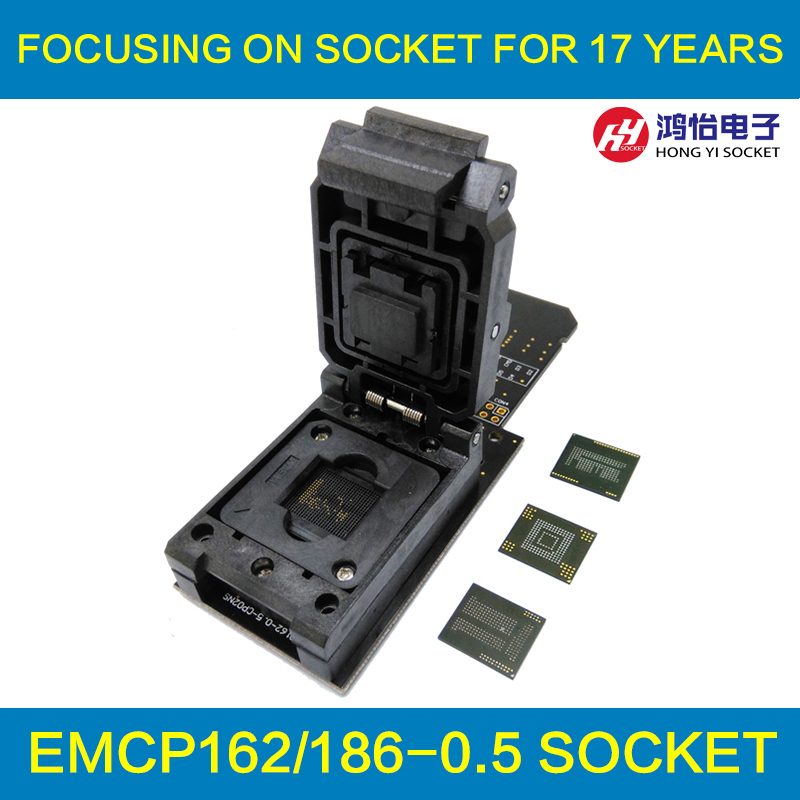 3 IN 1 eMMC153/169 eMCP162/186 eMCP221 Test Socket Reader BGA153