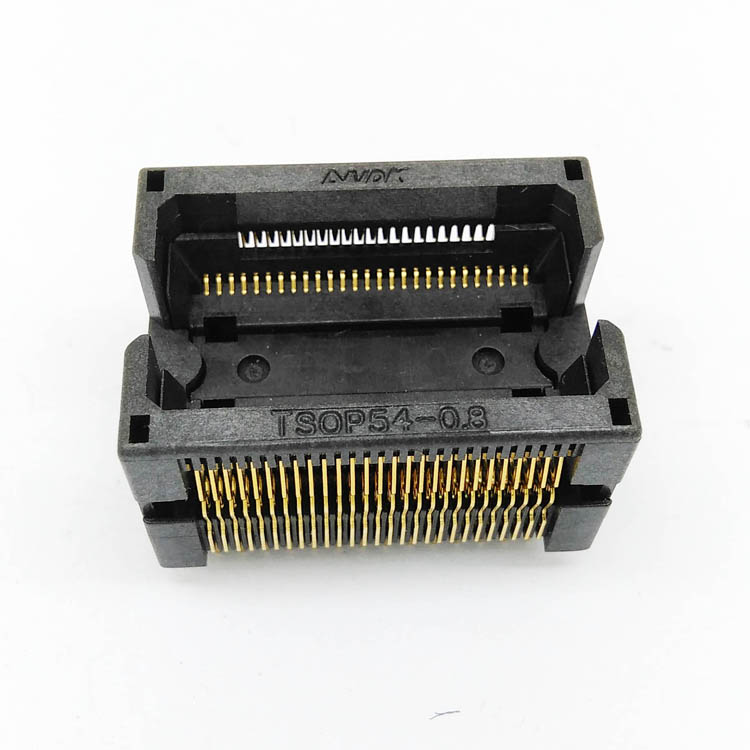 TSOP54-0.8 IC Test Socket Chip Size 18x22mm Burn in Socket Programming Socket Adapter Conversion Block