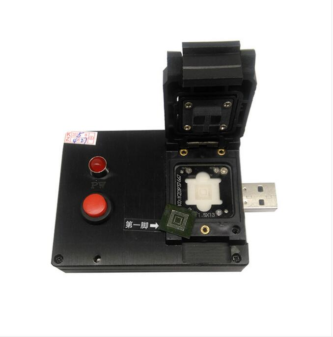 eMMC153/169 Clamshell Pogopin Probe USB Disk Test Fixture for eMMC153/169 Test Socket/Adapter/Readernand flash testing