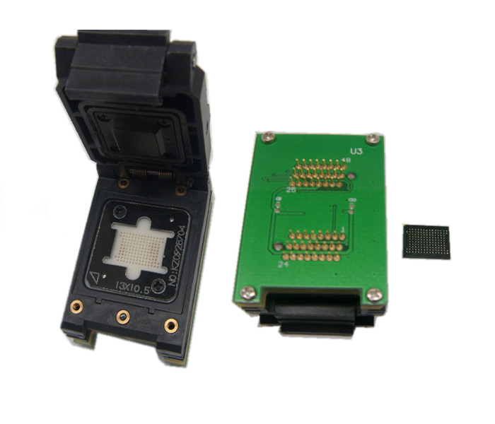 BGA137 to DIP48 Adapter IC Test Socket SSD flash Socket Programmer Socket Open Top Structure Test Seat
