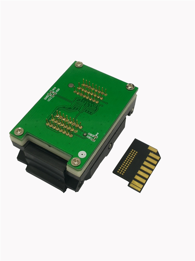 SD Card DIP48 Test Socket Clamshell Burn in Socket SD Chip for SD card test device customize need your electrical case