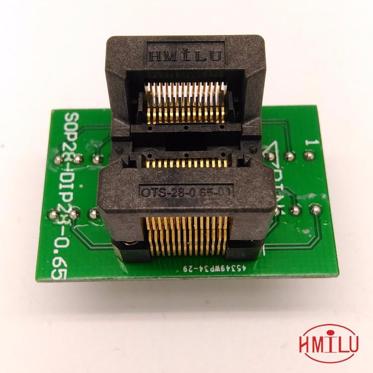 4.4mm 173mil SSOP28 test socket SSOP28-0.65-01 OTS28(28)-0.65-01