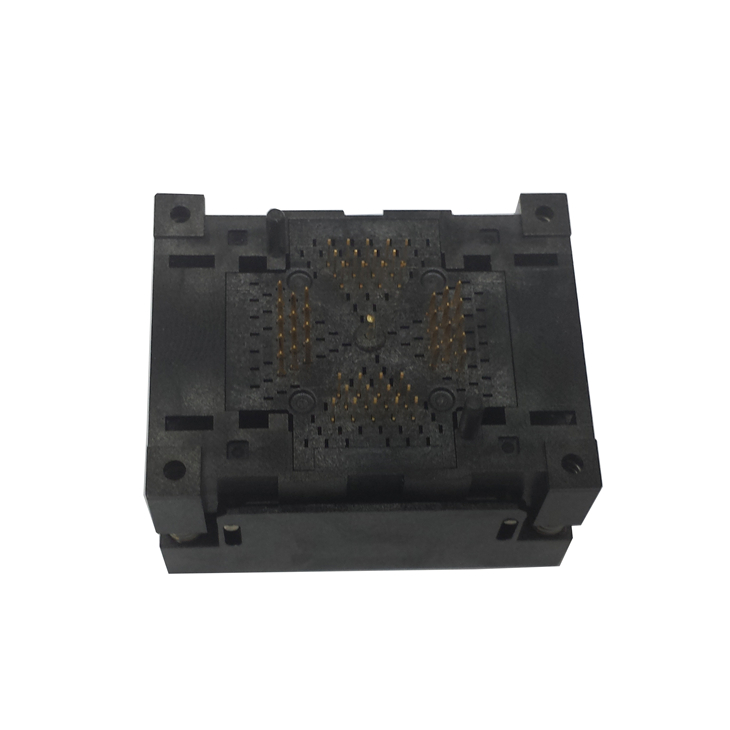 QFN64 MLF64 Burn in IC Test Socket ICNP506-064-041-C-G Pitch 0.5mm Chip Size 9*9 Flash Adapter Open top Programming Socket