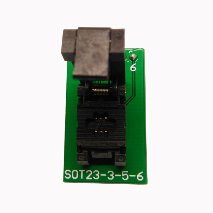 SOT23-6-0.95 Clamshell Pogo Pin Probe Test Socket SOT23-6-0.95-CP01PNL Programming Socket Pitch 0.95 Chip Size 1.6*3mm