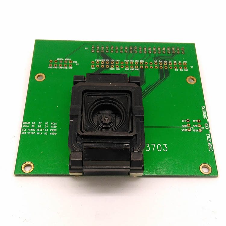 BF3703-P Sensor IC test fixture Pogopin Contact Type Clamshell Structure