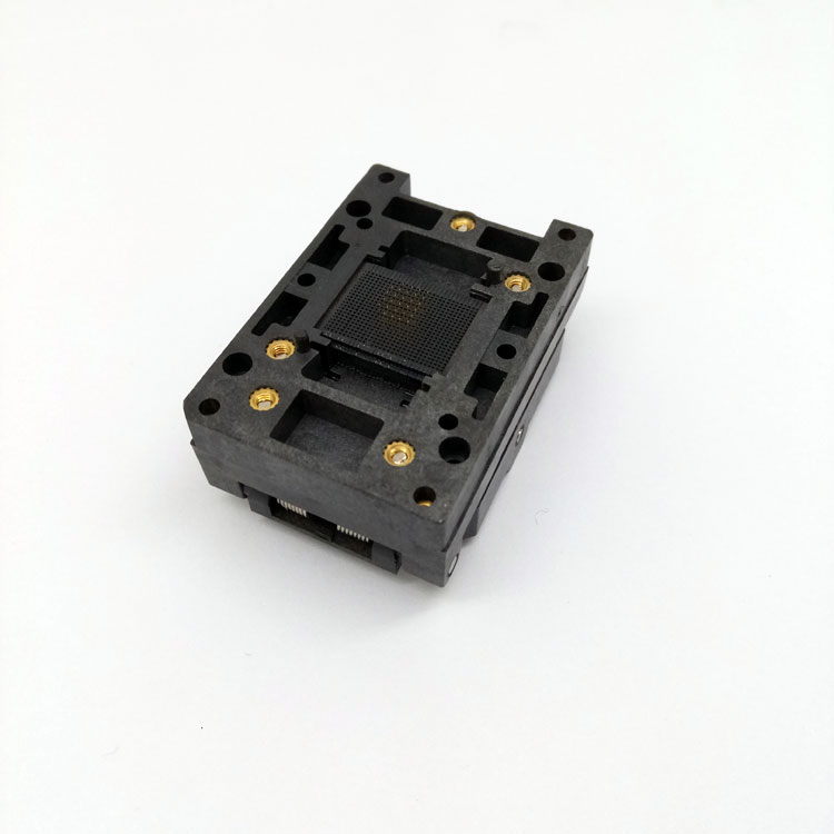 BGA24-1.0 Clamshell Burn in socket pin pitch 1.0mm IC size 6*8mm Pin Grid 5*5 4*4 BGA24(6*8)-1.0 BGA24 VFBGA24 burn in socket