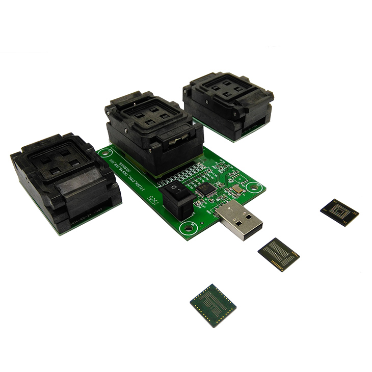 3 IN 1 eMMC eMCP Test Socket BGA153/169 BGA162/186 BGA221 Reader 11x10mm 11.5x13mm 12x16mm 12x18mm 14x18mm Flash Data Recovery
