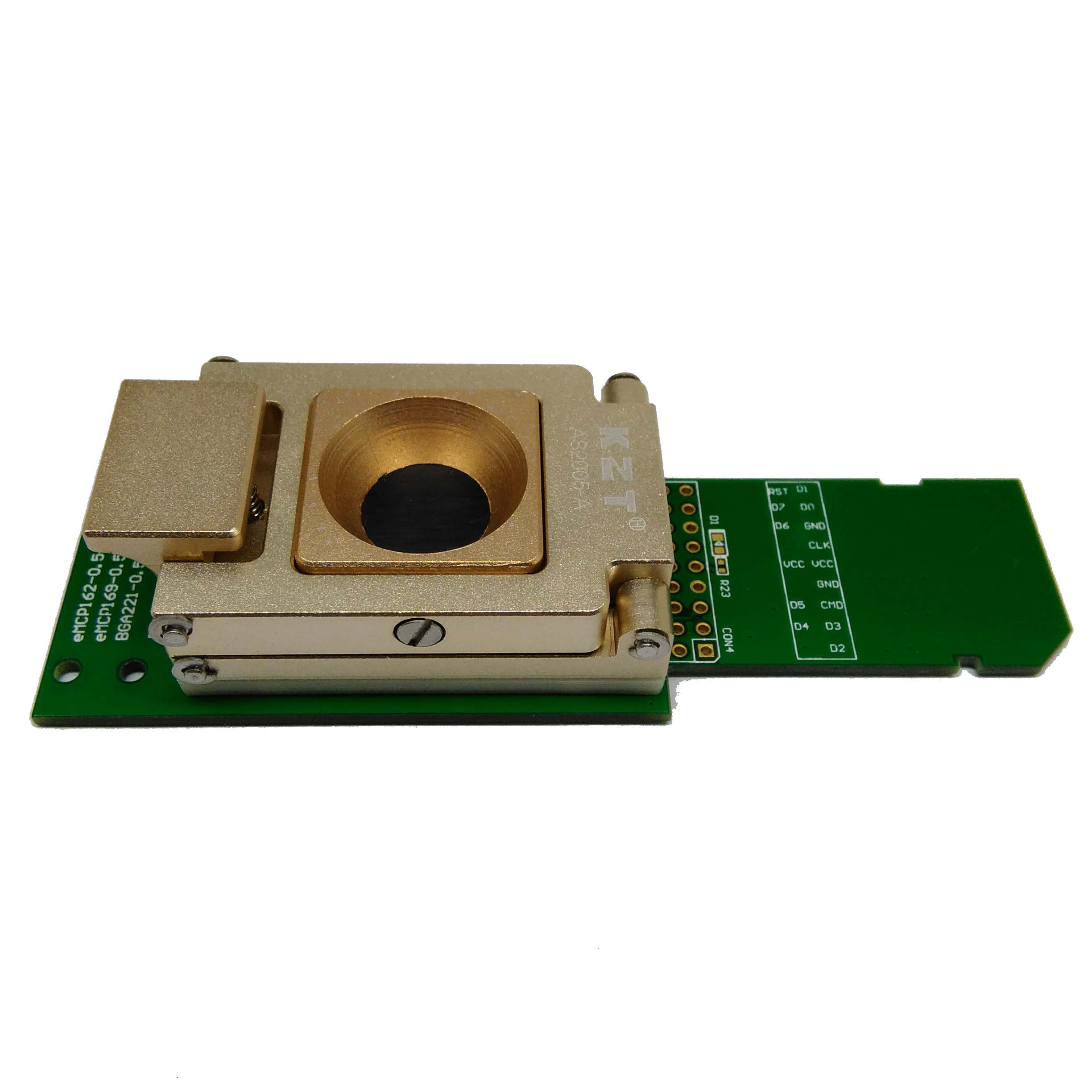 eMCP221 Test Socket with SD interface Pogo Pin Nand flash reader For BGA 221,Apply to eMCP size 11.5x13mm Pitch 0.5mm Adapter