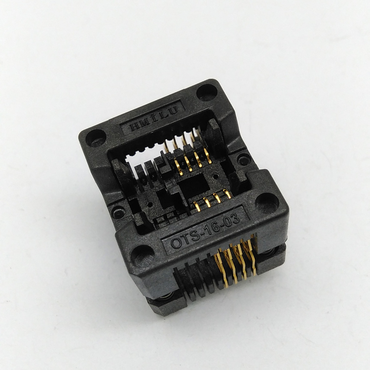 SOP8 150mil Pitch 1.27mm Burn in Socket IC Test Socket OTS-16-1.27-03 Programmer Adapter Open Top