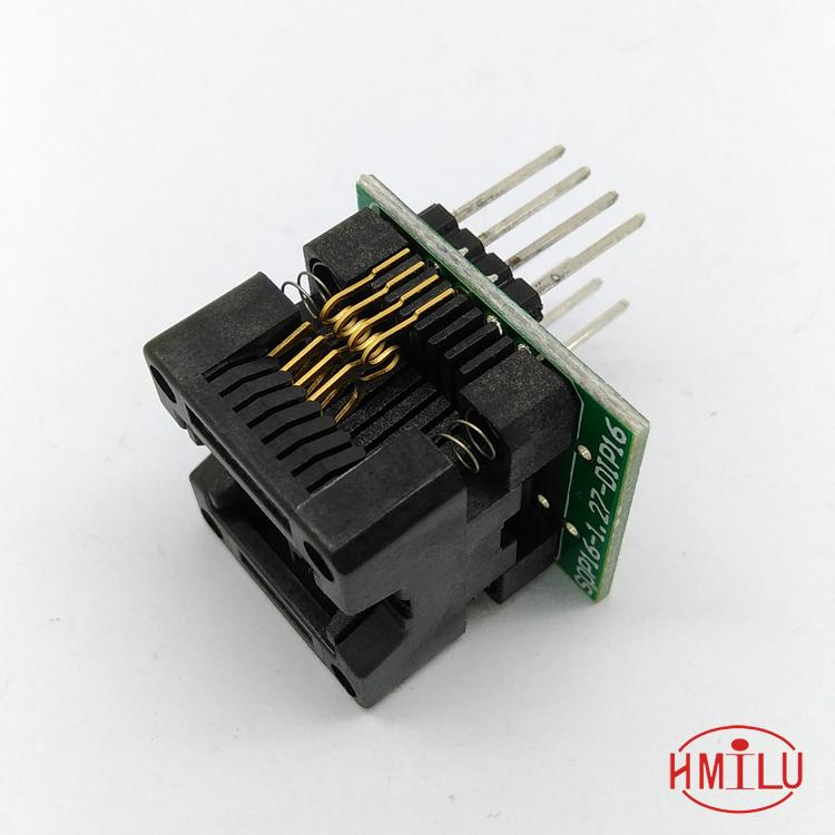 SOP8 SOIC8 SO8 to DIP8 EZ Programer Socket Pitch 1.27mm IC Body Width 3.9mm 150mil IC Test Adapter EZ CH341A CH341