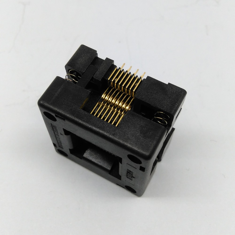 QFP32 TQFP32 LQFP32 Burn in Socket IC51-0324-1498 Pitch 0.8mm Size 7*7mm Open Top Programming Socket Adapter