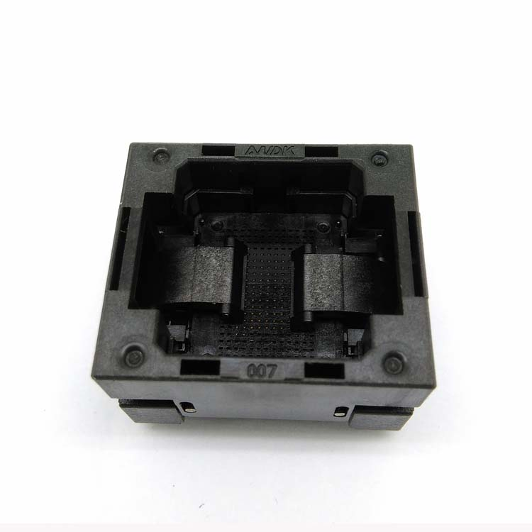 BGA107-0.8 OPEN TOP Burn in socket pitch 0.8mm IC size 10.5*13mm BGA107(10.5*13)-0.8 BGA107 VFBGA107 burn in programmer socket