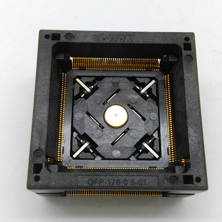 QFP176 TQFP176 LQFP176 OTQ-176-0.5-06 Burn in Socket Pitch 0.5mm Open Top Programming Adapter Test Socket Adapter
