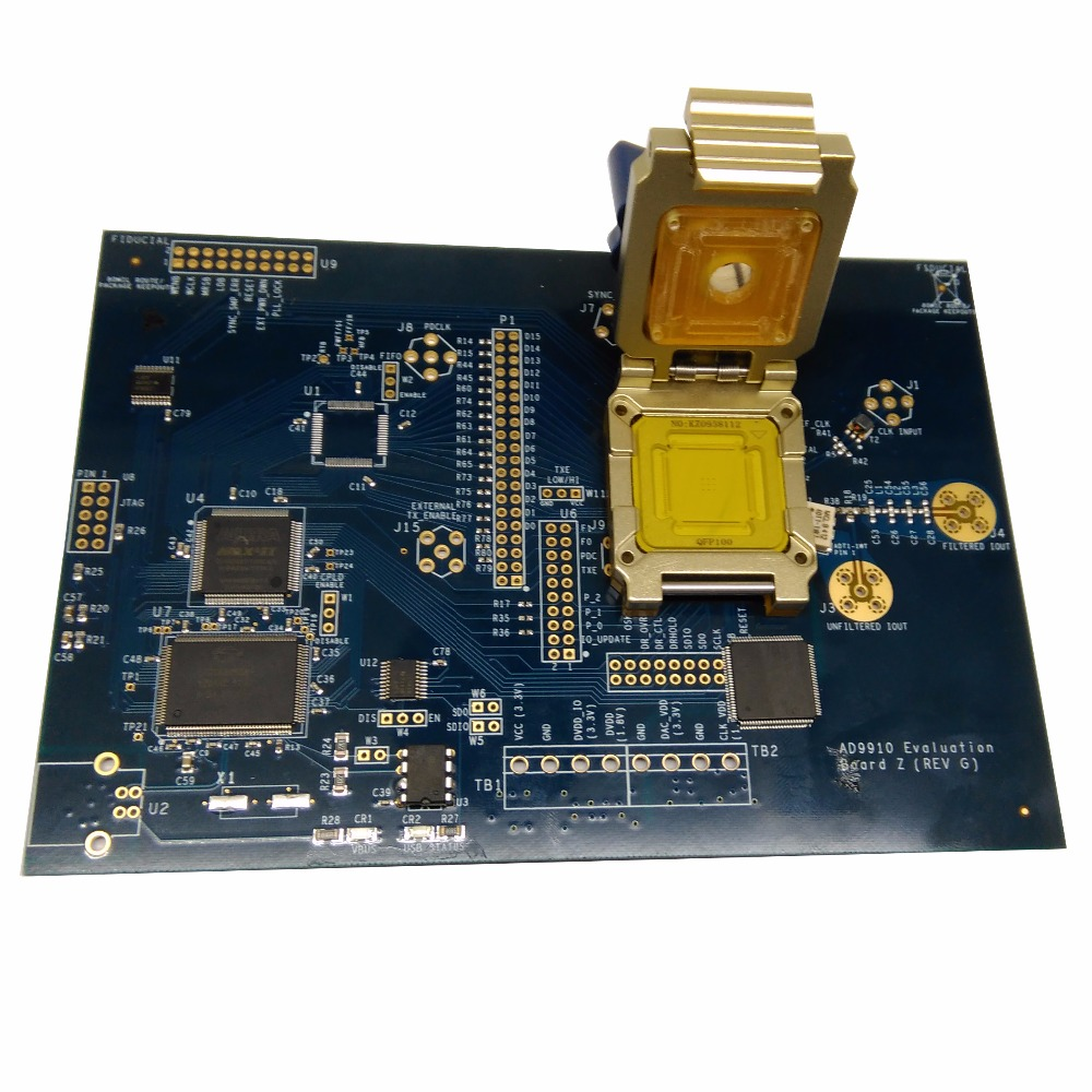 QFP100 IC test fixture Pogopin Contact Type Clamshell Structure