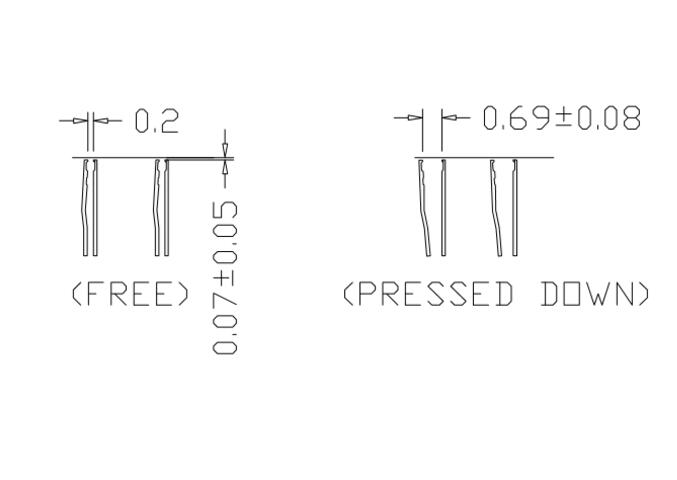 DDR2-0.8-60pin Burn in Test Socket Ball Pin Pitch 0.8mm DDR DIMM DRAM for DDR manufacturer