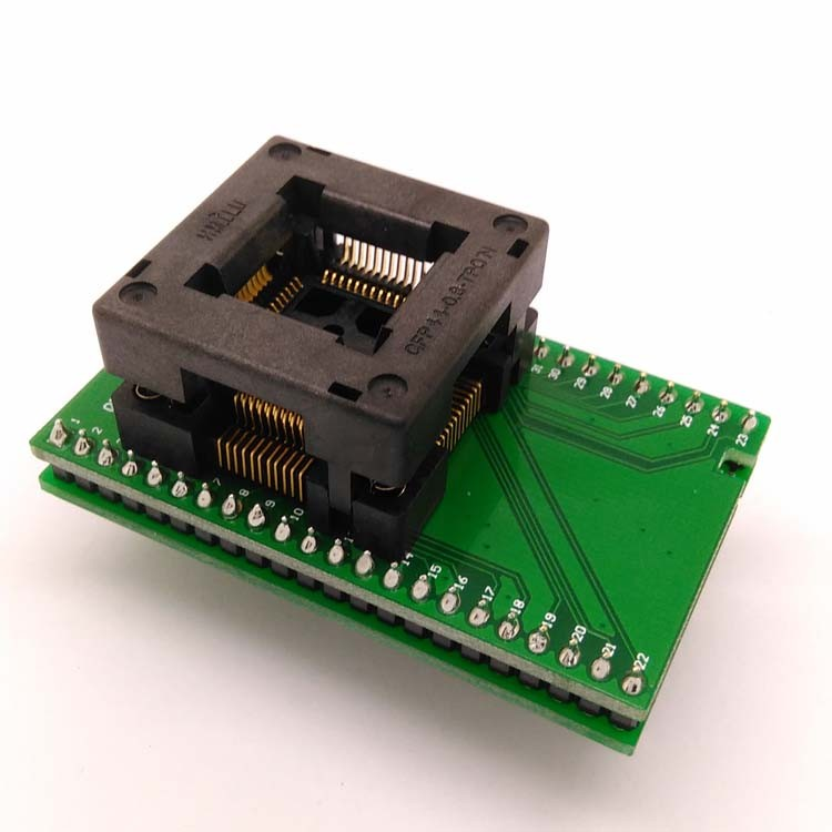 TQFP44 FQFP44 QFP44 to DIP44 Double-Board Programming Socket OTQ-44-0.8-14 Pitch 0.8mm IC Body Size 10x10mm Test Adapter