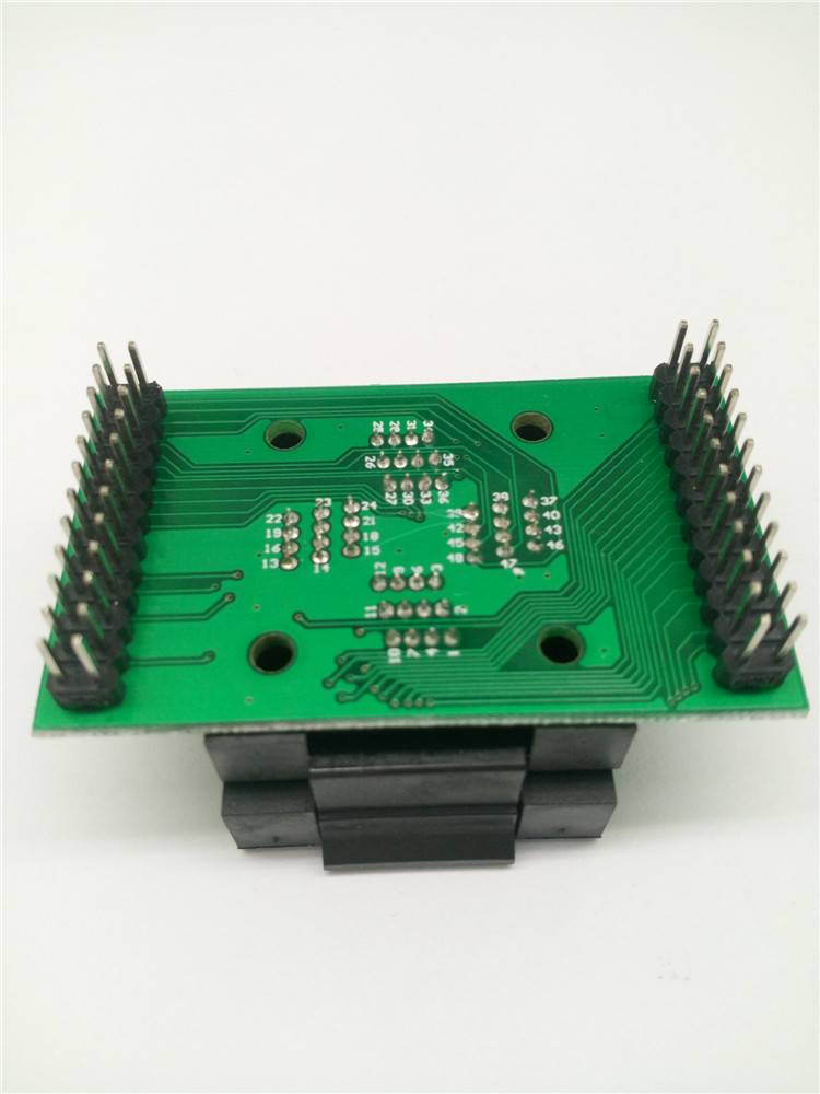 QFP48 TQFP48 LQFP48 to DIP48 Programming Socket Pitch 0.5mm IC Body Size 7x7mm FPQ-48-0.5-06 Test Socket Adapter