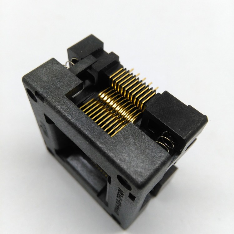 TQFP44 FQFP44 QFP44 to DIP44 Burn in Socket OTQ-44-0.8-14 Pitch 0.8mm IC Body Size 10x10mm Open Top Test Adapter