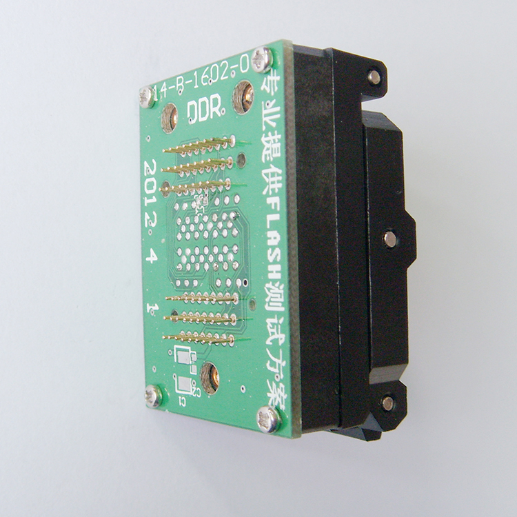 LGA52 TO DIP48 IC Test Socket With Board Burn in Socket Size 14x18mm Flash Programmer Adapter Cleamshell SSD test Socket