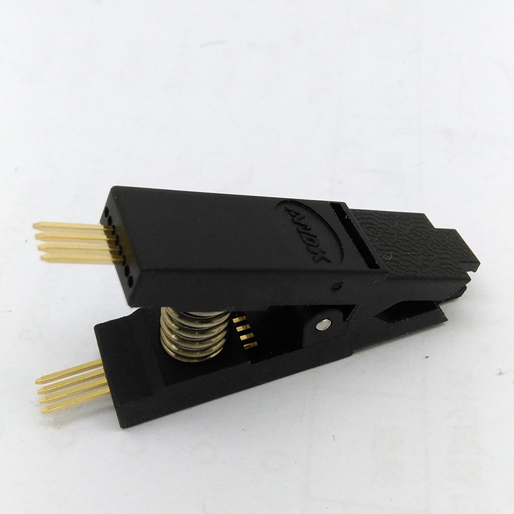 SOP8 Test Clip for BIOS SOP8 SOIC8 Original SOP8 Test Clip Pin pitch 1.27mm EEPROM 24CXX / 25CXX /93CXX in-circuit programming