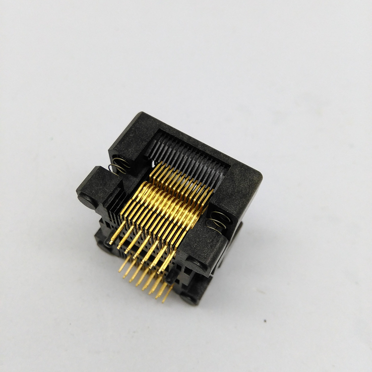 SSOP28 TSSOP28 Burn in Socket Pin Pitch 0.65mm IC Body Width 5.3-5.7mm 208mil-224mil Flash Test Socket Adapter