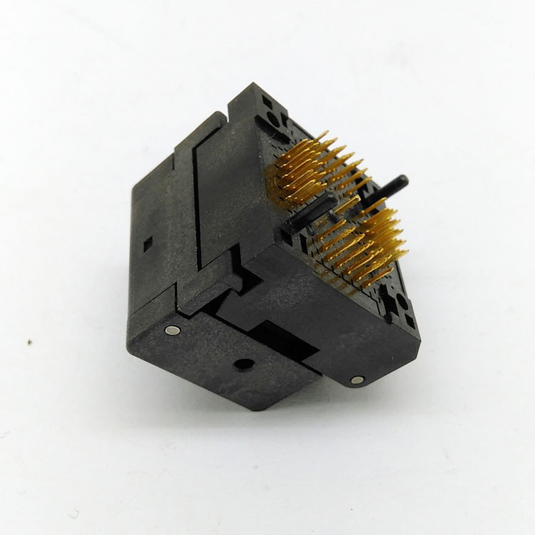QFN64 MLF64 Burn in Socket IC Test Socket IC550-0644-006-G Pitch 0.5mm Chip Size 9*9 Flash Adapter Clamshell Programming Socket
