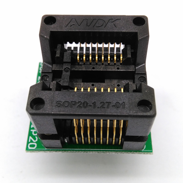 SOP16 SOIC16 SO16 to DIP16 Programming Socket Pitch 1.27mm IC Body Width 5.4mm 209mil Test Socket Adapter