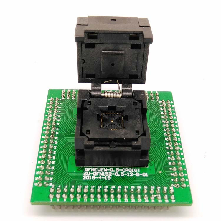 IC550-0484-004-G Programming Socket QFN48 MLF48 IC Test Adapter Pitch 0.5mm Clamshell Chip Size 7*7 Flash Adapter Burn in Socket​