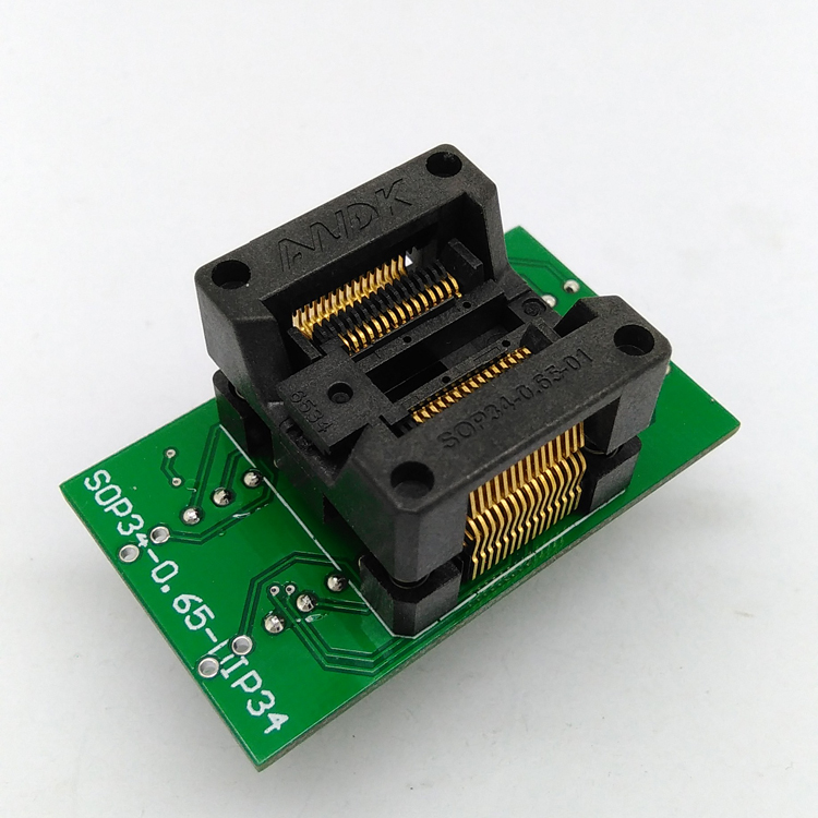 SSOP30 TSSOP30 to DIP30 Programming Socket Adapter Pitch 0.65mm IC Body Width 5.3-5.7mm 208mil-224mil Flash Chip Test Socket