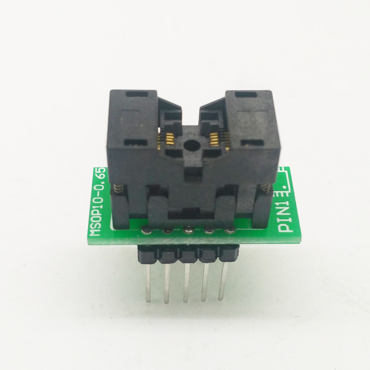 MSOP10 To DIP10 MCU Programmer Test Socket Pitch 0.5mm IC Body Width 3mm Programming Socket Adapter