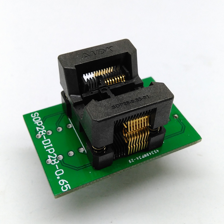 SSOP16 TSSOP16 to DIP16 Programming Socket Pitch 0.65mm IC Body Width 4.4mm 173mil Flash Test Socket Adapter