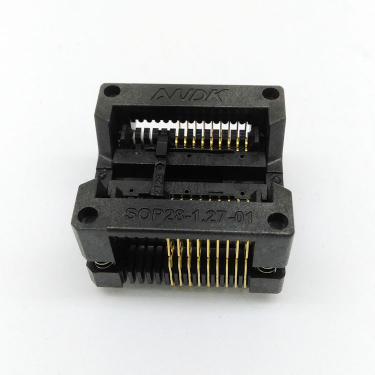 SOP18 SOIC18 SO18 IC Test & Burn Socket Pitch 1.27mm IC Body Width 7.5mm 300mil Test Socket Adapter