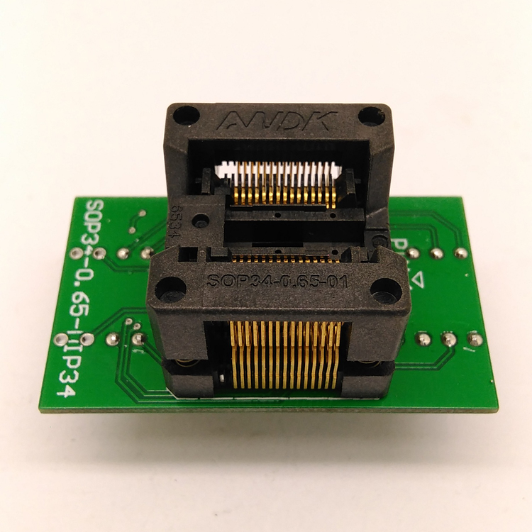 SSOP30 TSSOP30 to DIP30 Programming Socket Adapter Pitch 0.65mm IC Body Width 5.3-5.7mm 208mil-224mil Test Socket