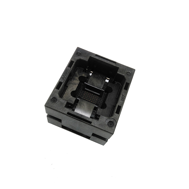 BGA168 OPEN TOP burn in socket pitch 0.65mm IC size 10*10mm BGA168(10*10)-0.65-TP01NT BGA168 VFBGA168 burn in programmer socket