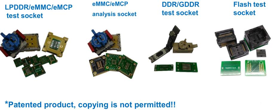 eMMC ddr flash memory analysis socket