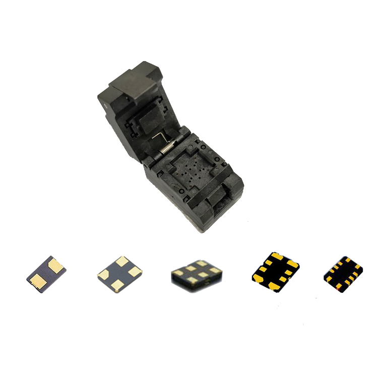 Xtal socket for 2 4 6 8 10pins device with 7050 5032 3225 2016 1612 Quartz crystal socket