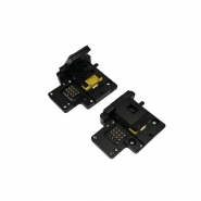 High current inspection socket for phone and mobile devices battery